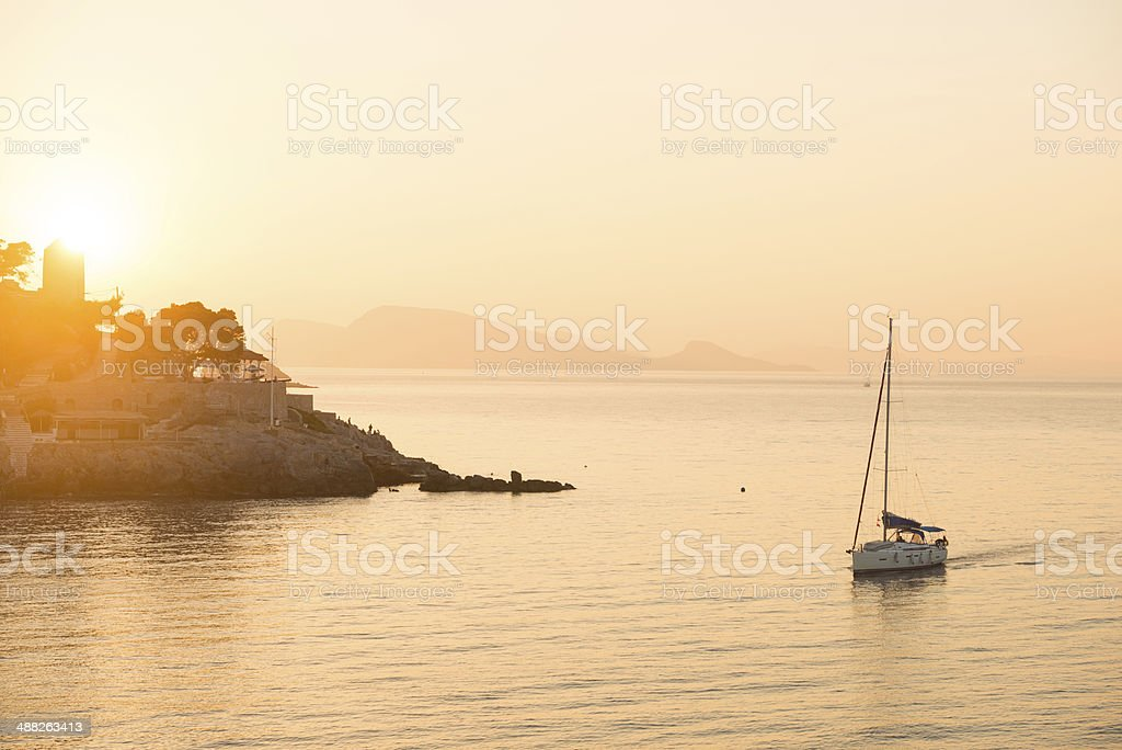 Sunset Sail stock photo