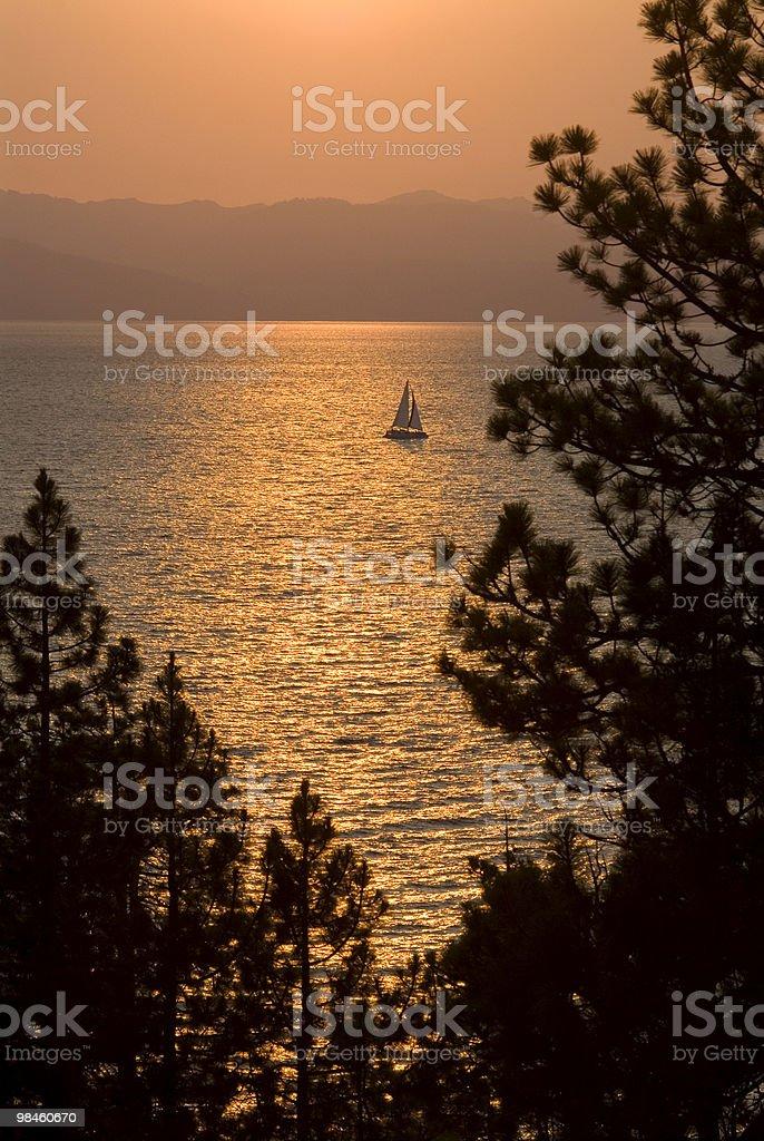 Sunset Sailing royalty-free stock photo