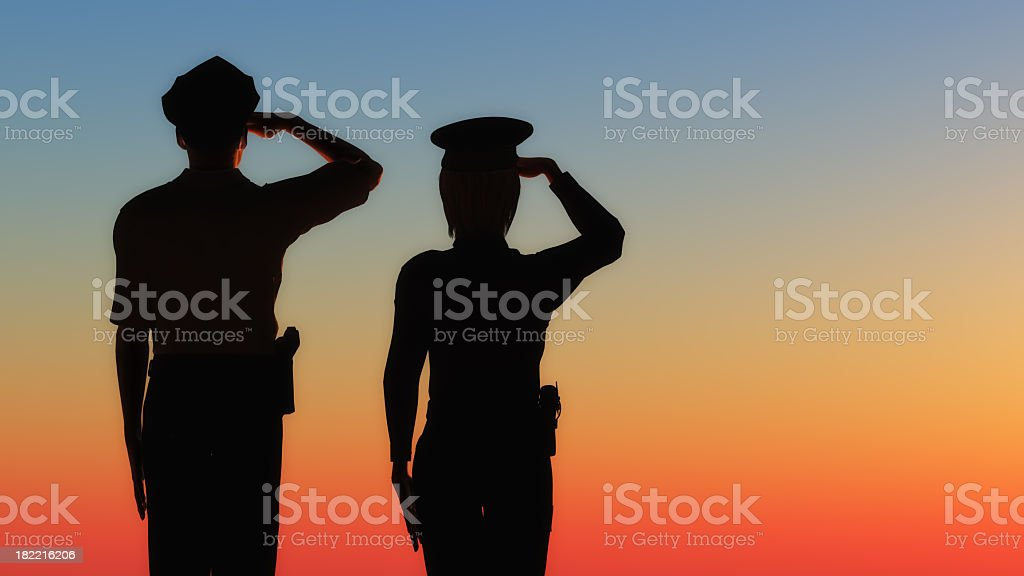 Sunset Salute royalty-free stock photo