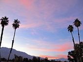 Sunset over the San Jacinto Mountain Range near Palm Springs, California.