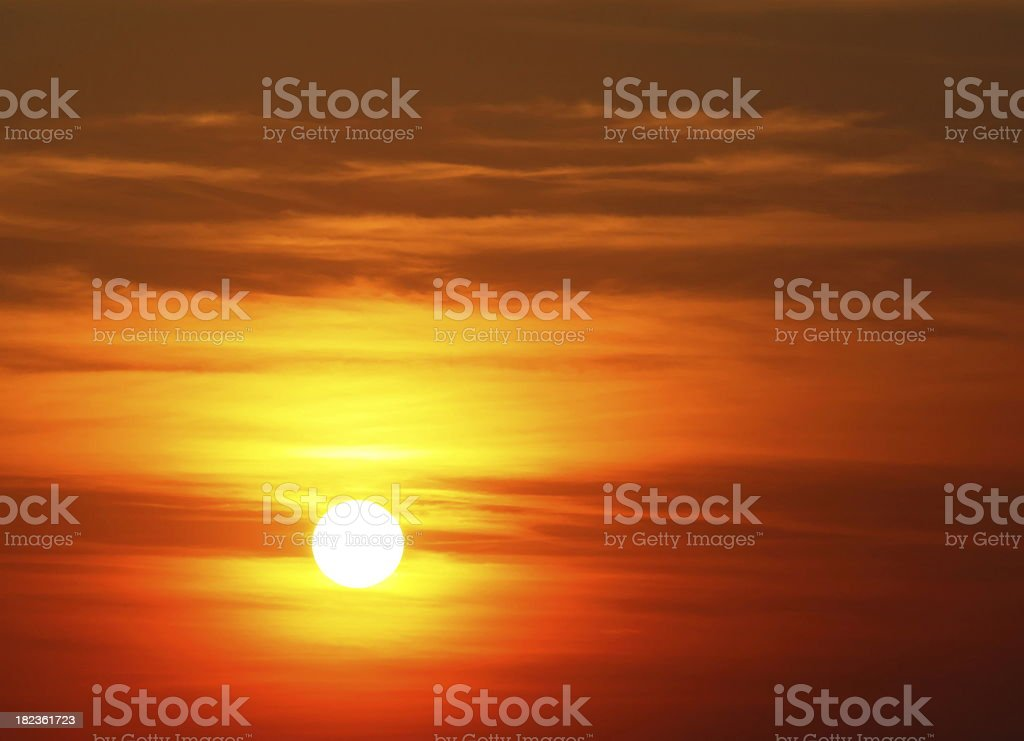 Sunset Scene stock photo