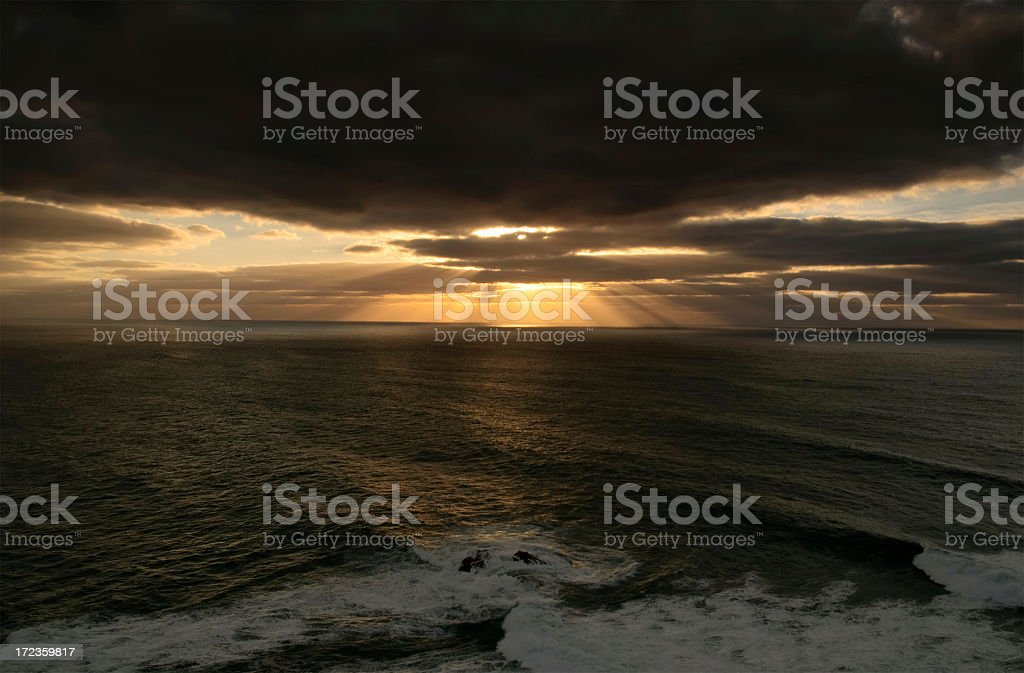 Atardecer paisaje marino foto de stock libre de derechos