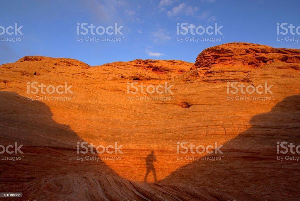 sunset shadows stock photo