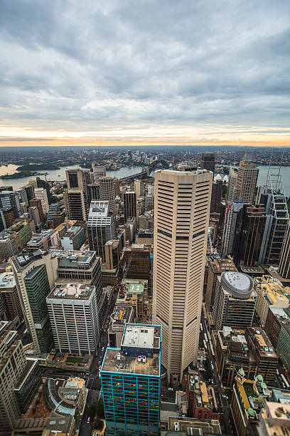 Sunset shot of Sydney, Australia stock photo