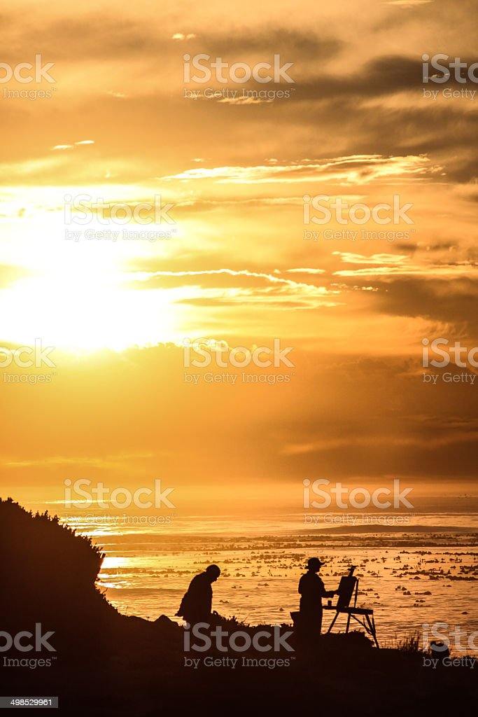 Sunset Silhouette royalty-free stock photo