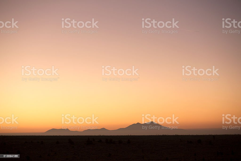 sunset, silhouette, stock photo