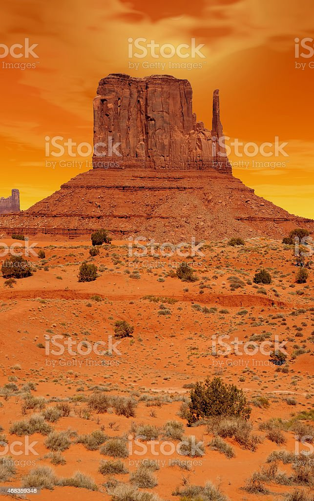 sunset Skies Monument Valley royalty-free stock photo
