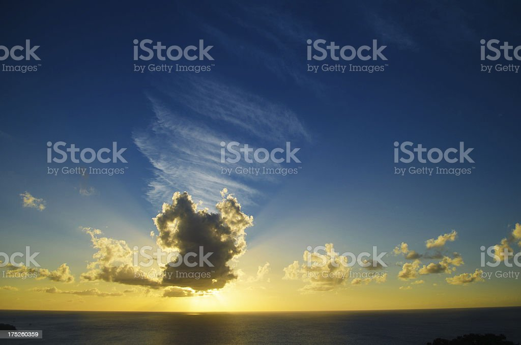 sunset sky and clouds royalty-free stock photo