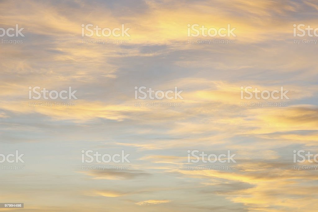 Sunset sky and cloudscape, background, copy space royalty free stockfoto