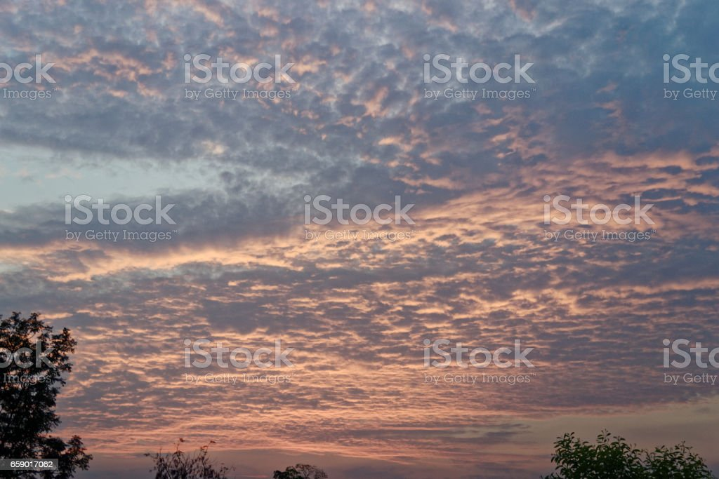 sunset sky at Thailand royalty-free stock photo