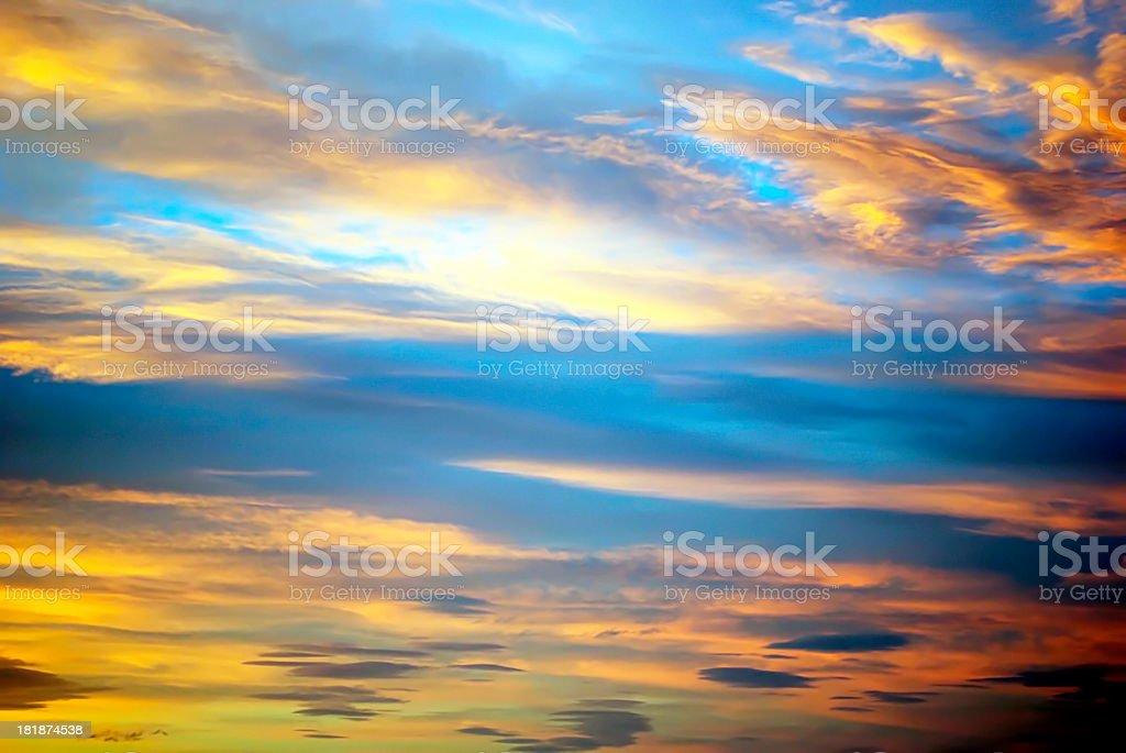 Sunset Sky Background royalty-free stock photo
