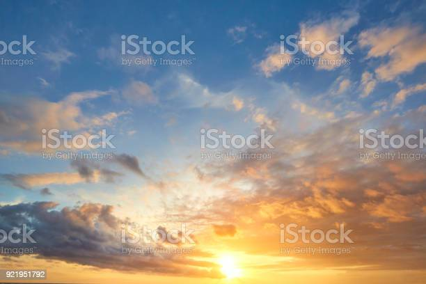 Photo of sunset sky background