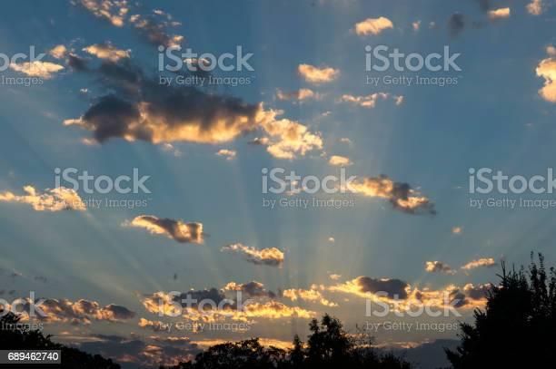 Photo of Sunset Sky Clouds Sun Streaks