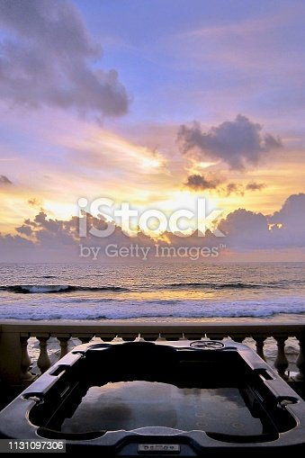 917116520 istock photo Sunset Sky on the beach 1131097306