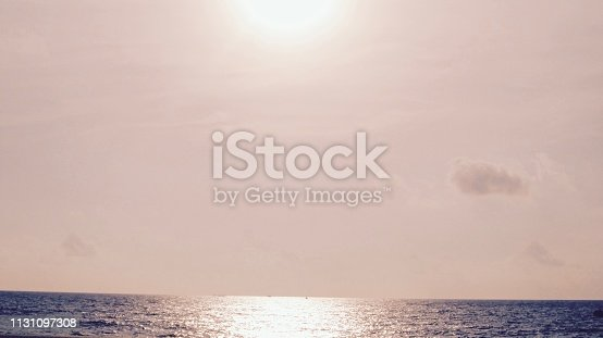 917116520 istock photo Sunset Sky on the beach 1131097308