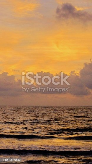 917116520 istock photo Sunset Sky on the beach 1131097347