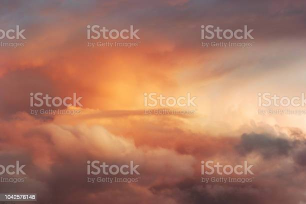 Photo of Sunset Sky over clouds Landscape Travel serene tranquil view flying beautiful natural colors