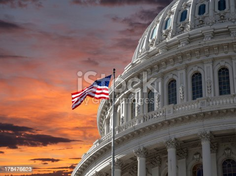 istock Sunset Sky over US Capitol Building 178476623