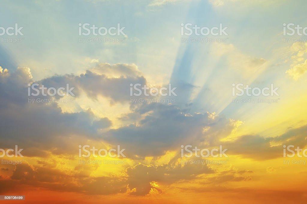 Sunset sky. stock photo