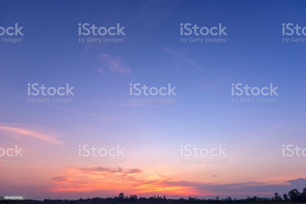 sunset sky  - foto de stock