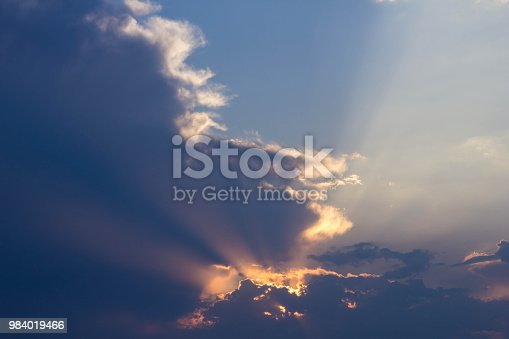 istock Sunset Sky with cloud, background 984019466