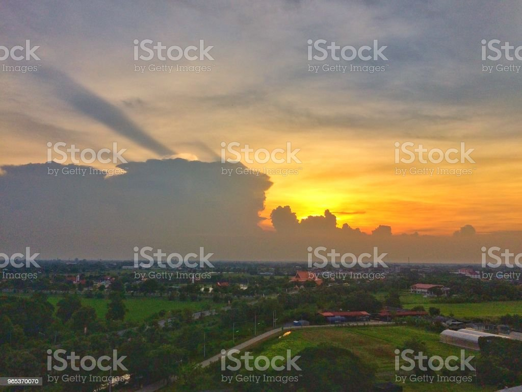 Sunset sky with clouds royalty-free stock photo