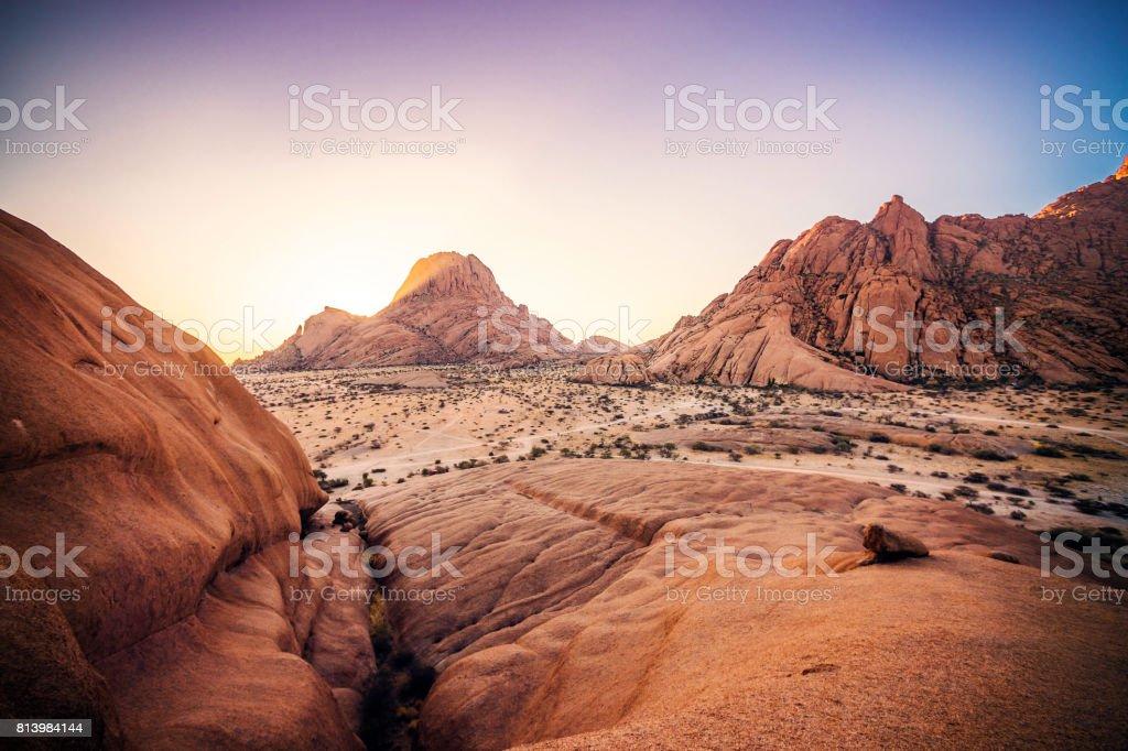 Sunset Spitzkoppe stock photo