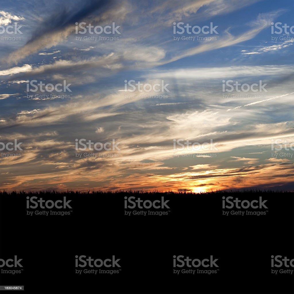 Sunset Square stock photo