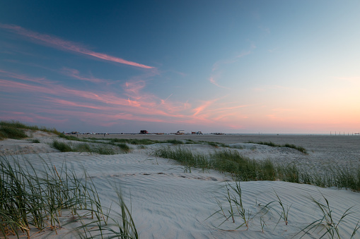 Sunset St. Peter-Ording beach