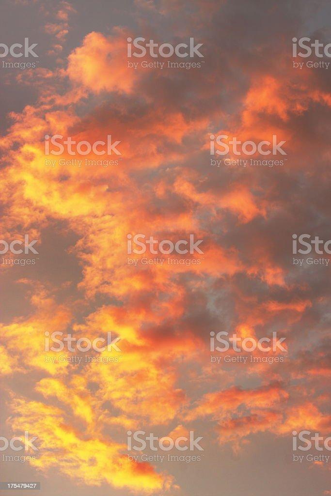 Sunset Storm Cloud Sky stock photo