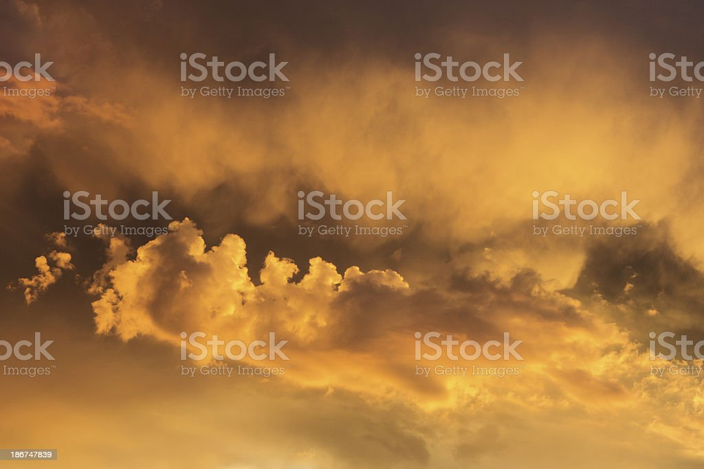Sunset Stratocumulus Stratus Cloudscape Sky royalty-free stock photo