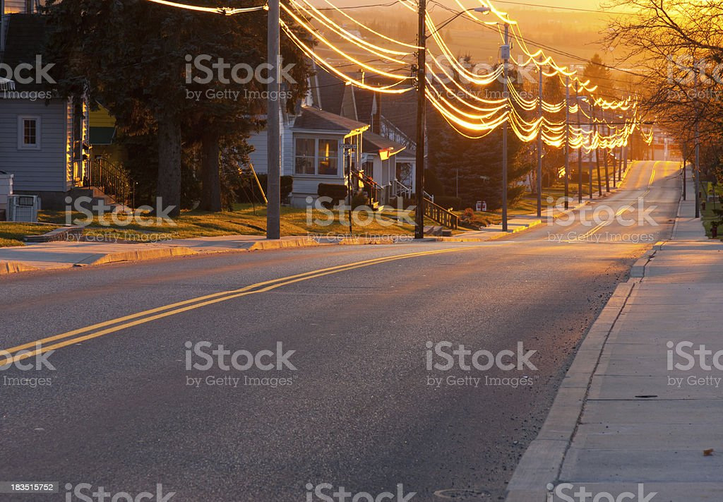 Sunset Street stock photo