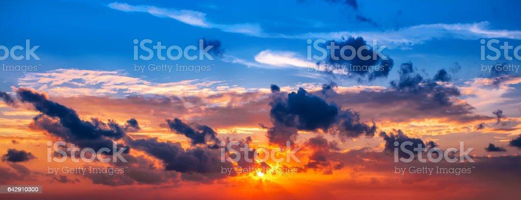 Sunset, sunrise sky cloudscape stock photo