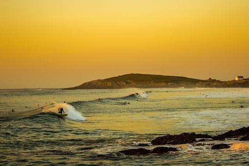 Sunset Surfer Fistral Beach