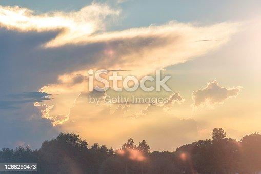 Sunset, surreal cloudscape