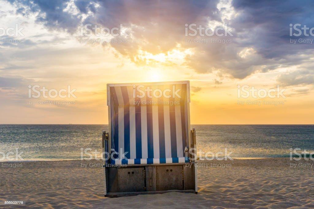 Sunset - Sylt, Kampen, Germany stock photo
