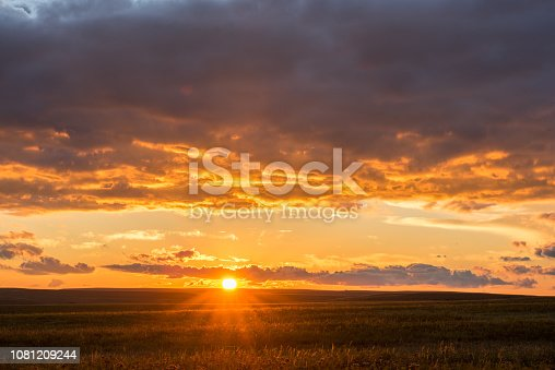 This sunset was photographed at the Tallgrass Prairie Preserve in Oklahoma in late September.