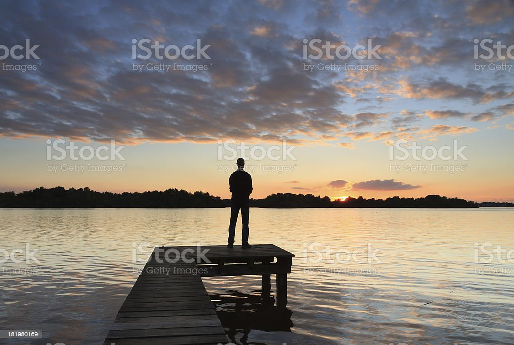 Sunset thoughts stock photo