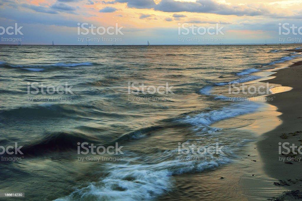 Sunset Tides stock photo