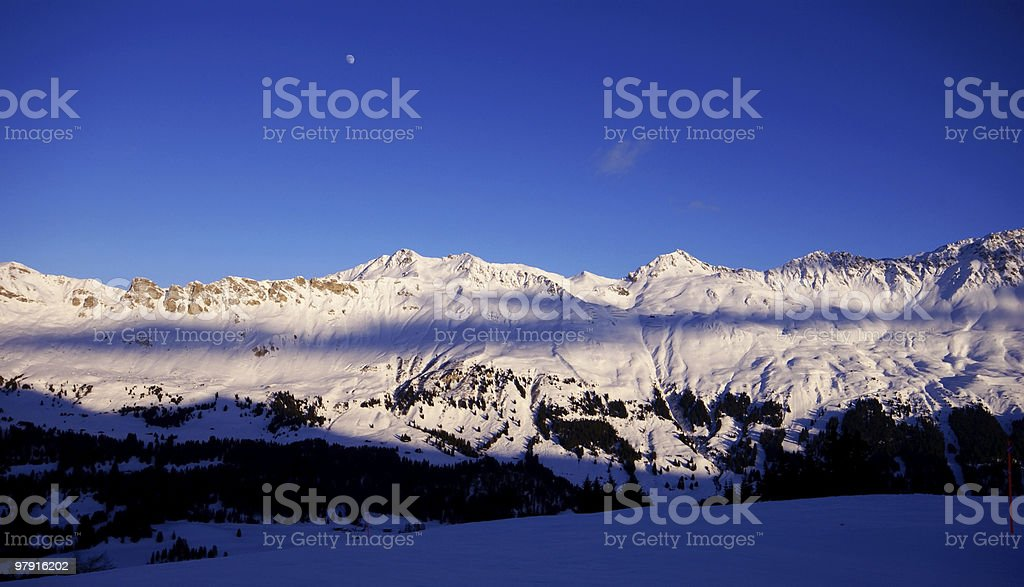 Sunset Time in the Alps royalty-free stock photo