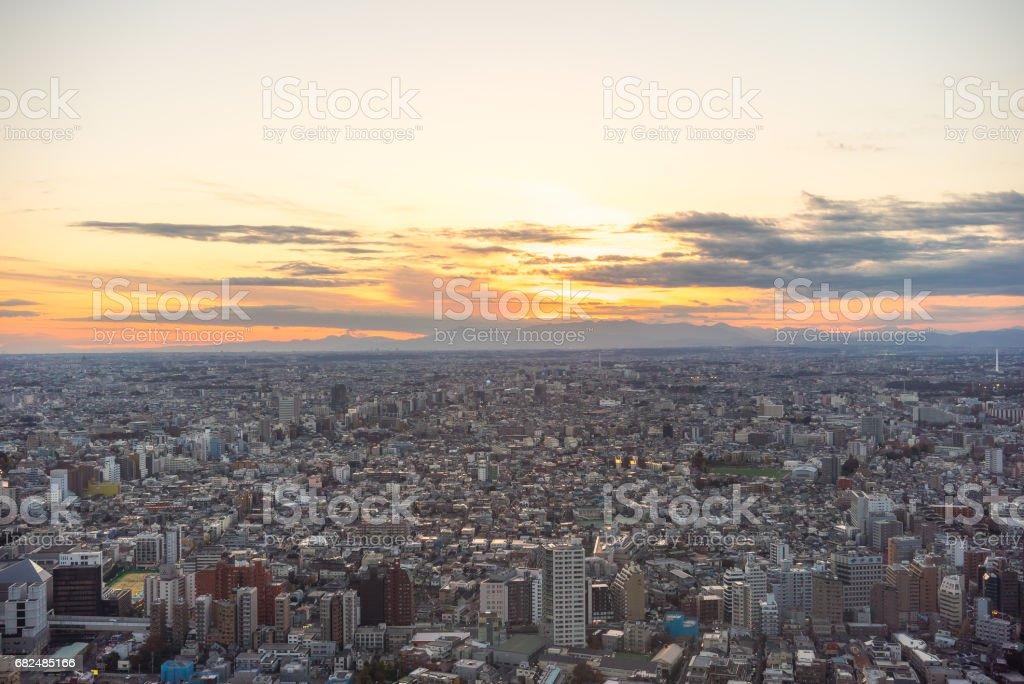 Sunset Tokyo Стоковые фото Стоковая фотография