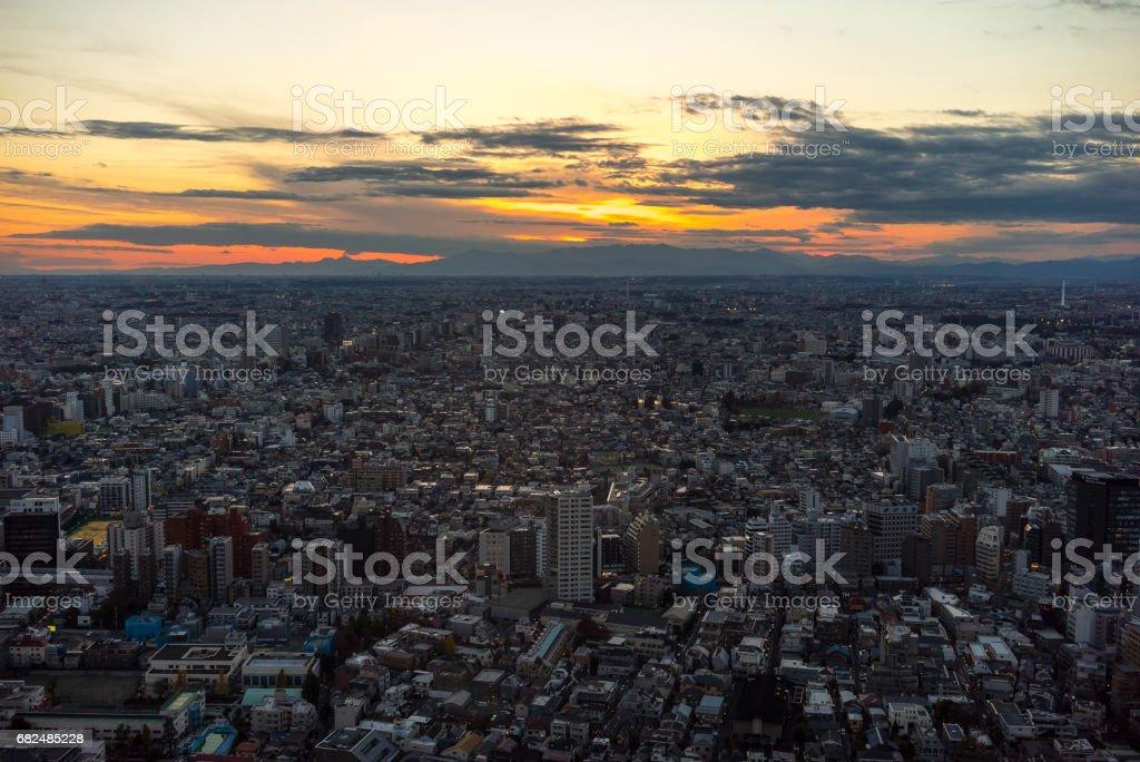 Atardecer de Tokyo foto de stock libre de derechos