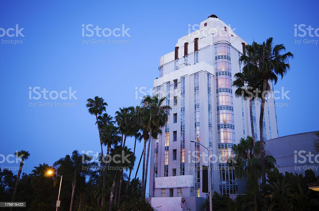 Sunset Tower Hotel in West Hollywood, CA royalty-free stock photo