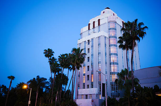 Sunset Tower Hotel in West Hollywood, CA stock photo