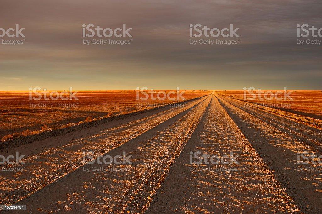 Sunset Track stock photo