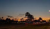 Sunset traffic near Ft Lauderdale