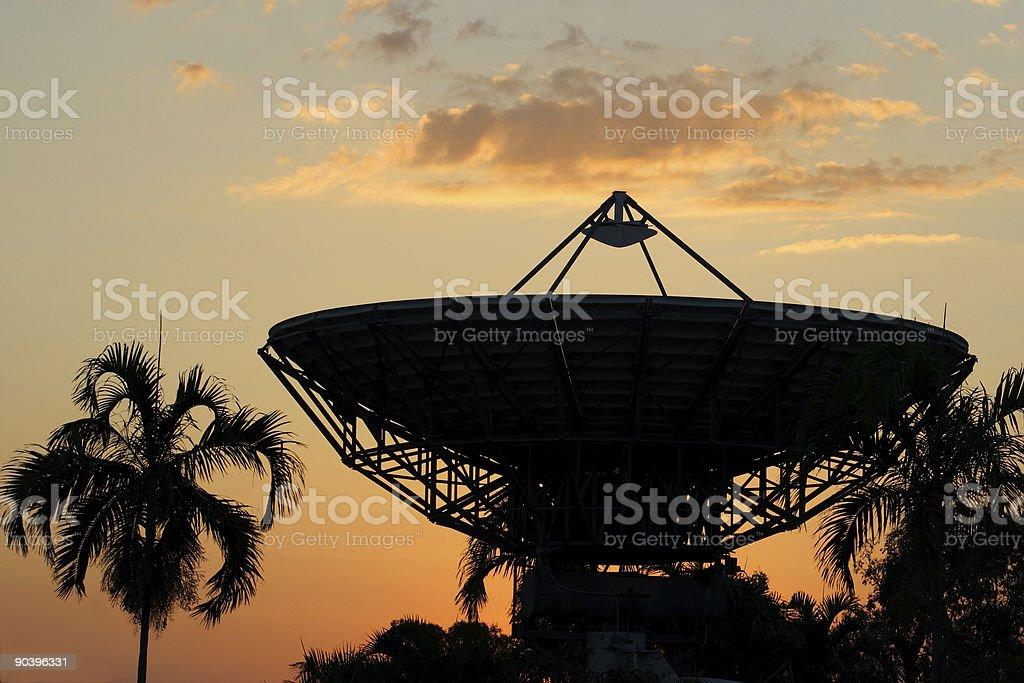sunset transmission stock photo