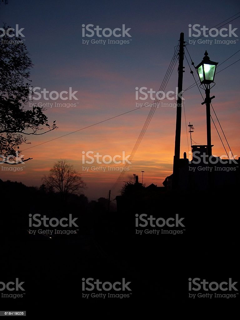 Sunset Up Clent stock photo