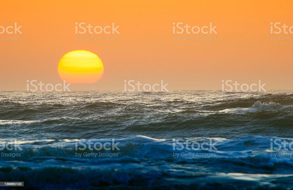 sunset up close royalty-free stock photo