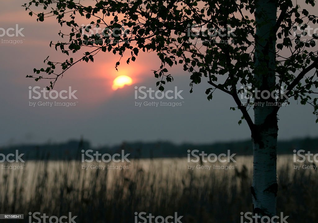 Sunset vesper stock photo